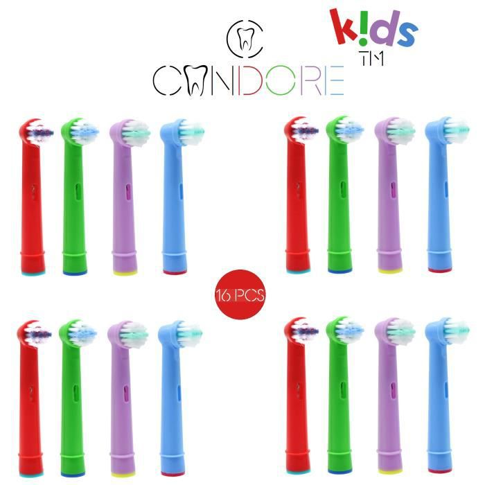 BROSSE A DENTS Candore® Pack 16 Brossettes Kids Compatibles Bross
