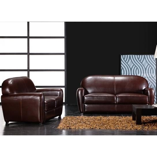 set 3 canap s club 3 places convertible 2 places et fauteuil marron achat vente salon. Black Bedroom Furniture Sets. Home Design Ideas