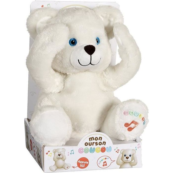 GIPSY Peluche Ourson Coucou 25 Cm