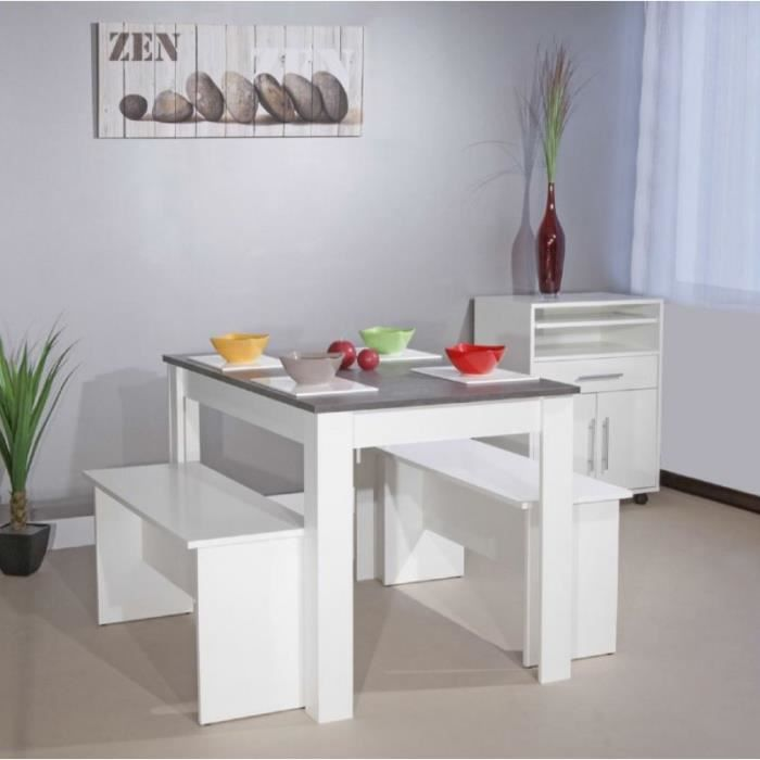 atlantique table repas 4 personnes blanche avec achat. Black Bedroom Furniture Sets. Home Design Ideas