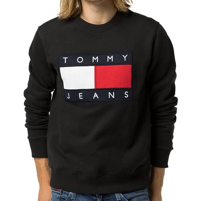 sweat hilfiger sweat tommy hilfiger denim homme blanc style r tro ann e 90 u0027s r f rence. Black Bedroom Furniture Sets. Home Design Ideas