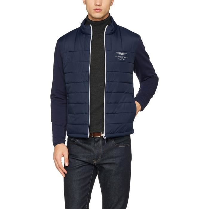 Achat London Homme Blouson Amr Hghmk Quilt Poly Bleu Hackett On6v8A6