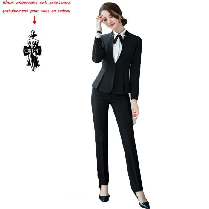 Veste+Pantalon)Costume Femme de Marque Veste