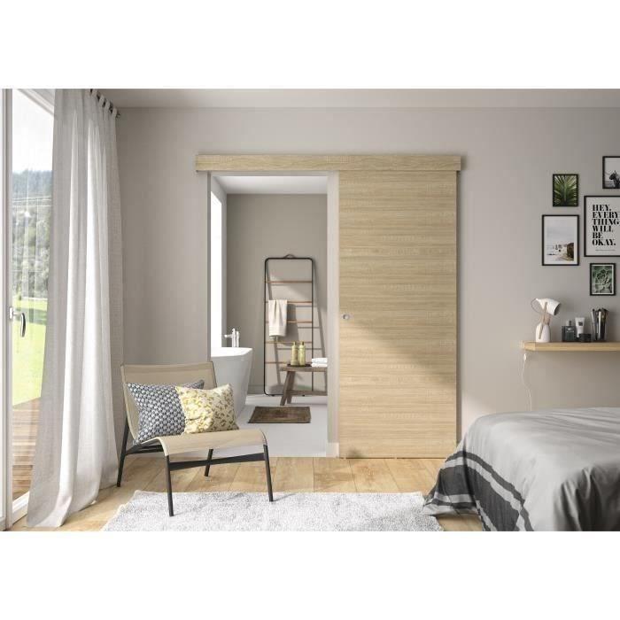 Lot de 4 guides de porte coulissante en acier inoxydable et bois avec vis pour porte coulissante