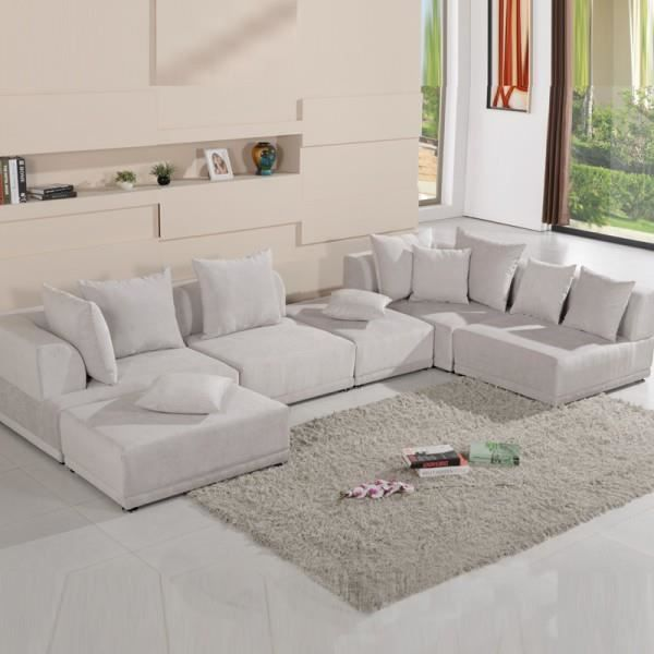 Canap panoramique modulable oceane gris achat vente for Canape panoramique design