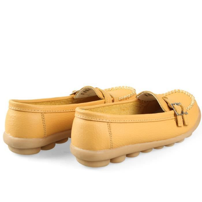 Mocassin BZH Loafer Mode Femmes XZ088Jaune40 Chaussures Detente Casual qnAqFUrSw