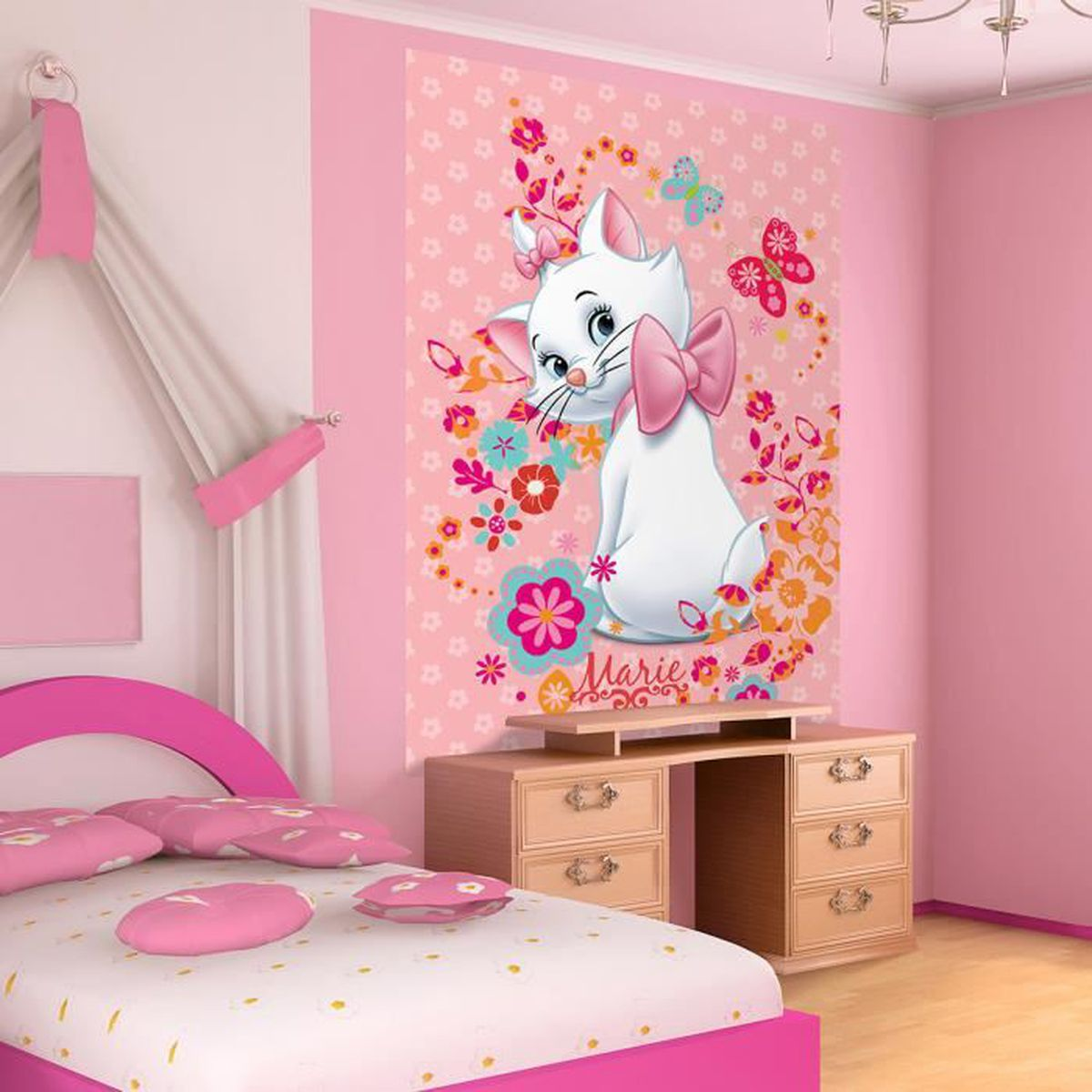fresque murale marie 219 x 312 cm les aristochats. Black Bedroom Furniture Sets. Home Design Ideas