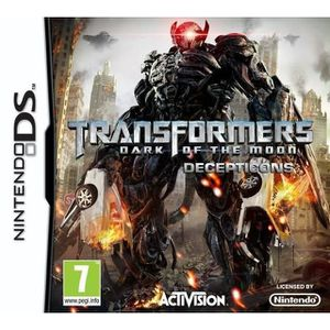 JEU DS - DSI TRANSFORMERS DARK OF THE MOON DECEPTICON BUNDLE/DS