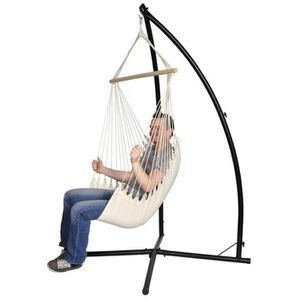 HAMAC Chaise hamac avec support métal