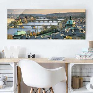 CADRE PHOTO 40x100 cm verre image - prague - croix panorama, p