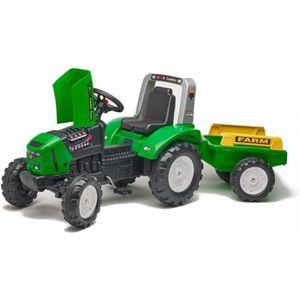 TRACTEUR - CHANTIER Tracteur à pédales avec remorque pour enfant 3ans+