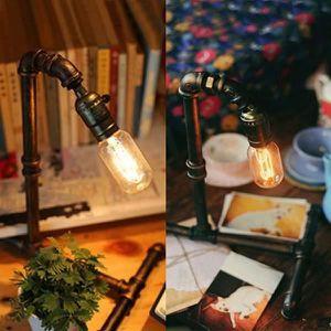 LAMPE A POSER ss-33-Vintage Lampe de bureau E27 Industriel Fer L