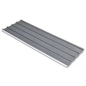 ACCESSOIRE TOITURE Tôle en acier galvanisé 12 pièces Gris