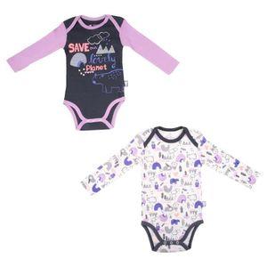 BODY Lot de 2 bodies bébé fille manches longues Igloo
