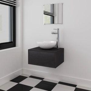 SALLE DE BAIN COMPLETE Meubles de salle de bains trois pièces Noir Salle
