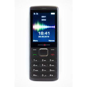 Téléphone portable Swisstone SC 1550 Noir, Double SIM, 6,1 cm (2.4