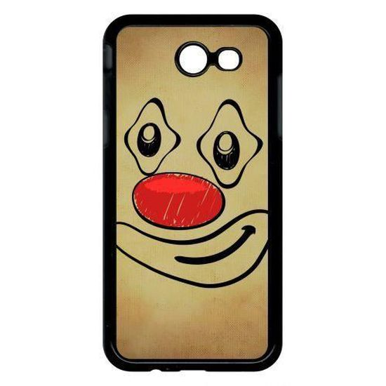Coque samsung galaxy j3 modele 2017 smiley clown nez rouge