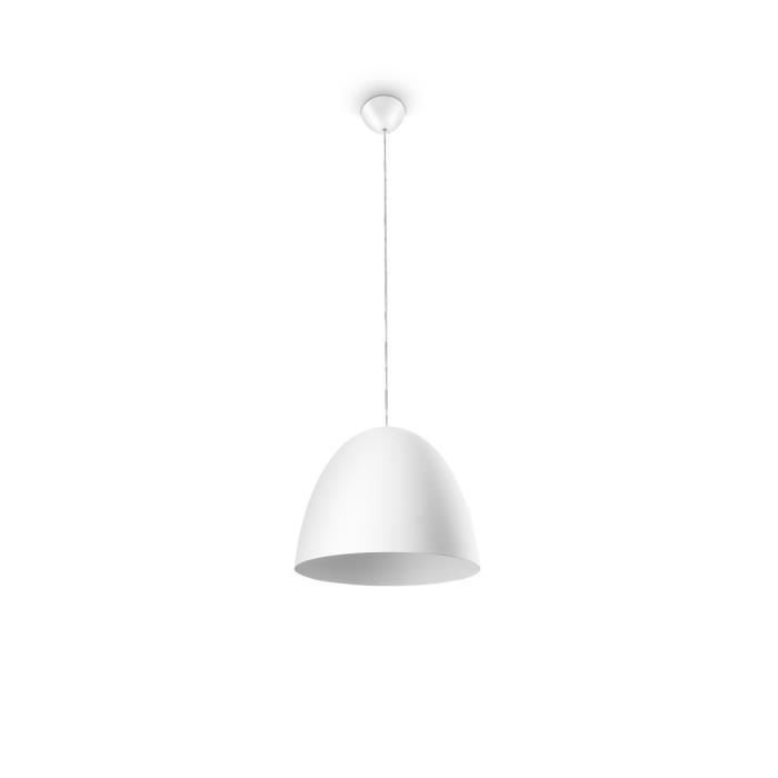 Suspension HEVER blanc 1x42W pour 50€