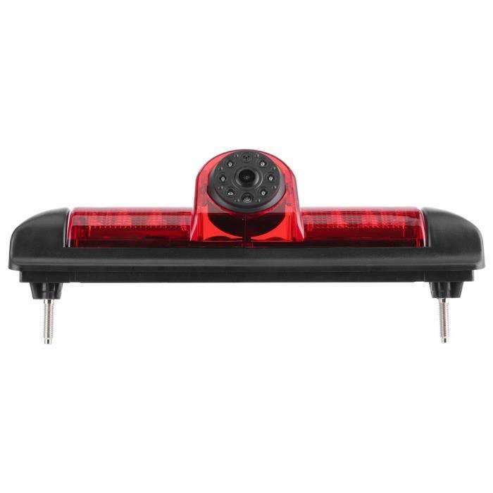 ARAMOX système de marche arrière de voiture Caméra de recul de voiture 170 ° grand angle avec feu stop LED IP68 étanche pour