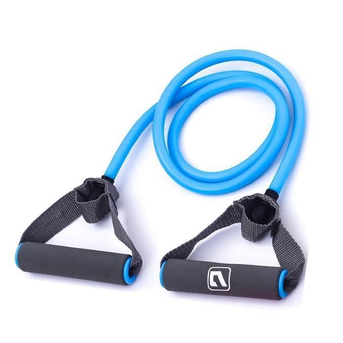 LiveupSports Bandes D'exercices de Résistance avec Poignées Tubes Pour Maison & Gym Musculation Tonifiant - Bleu