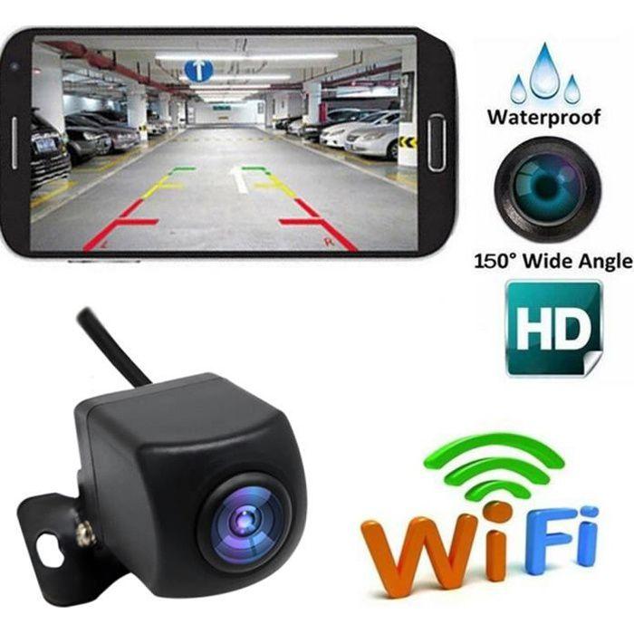 Caméra de recul Caméra de recul sans fil HD WIFI Caméra de recul pour voiture, véhicules, Caméra de recul WiFi avec vision