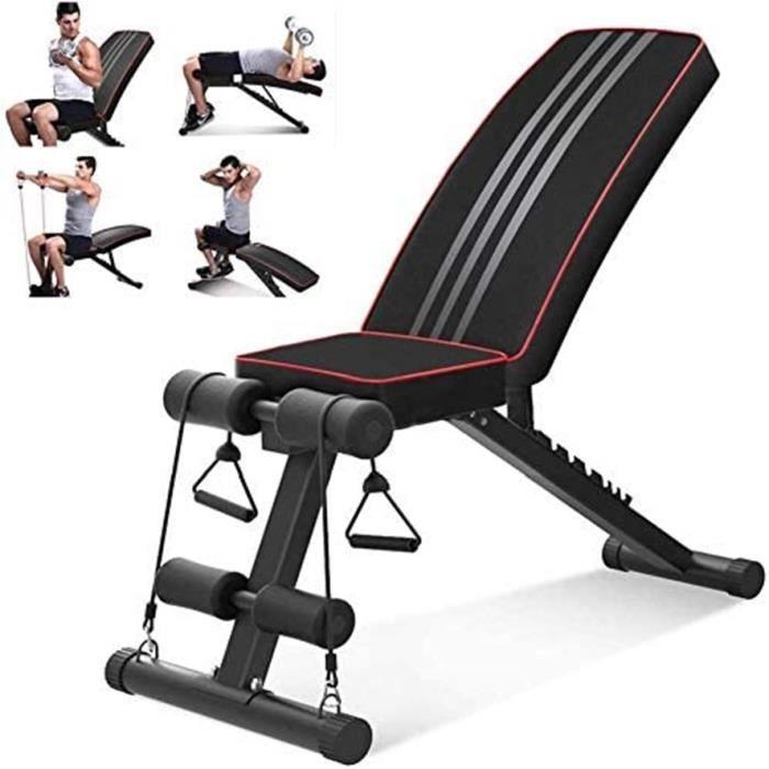 YOLEO Banc de Musculation Pliable Sit-up Fitness Musculation Bras Gym pour abdominaux et dorsaux -Charge max 150kg
