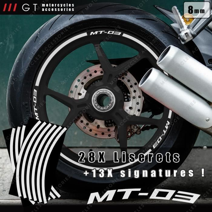 GRAFIC Autocollant Vignette de Jante de Roue de Motocyclette de Stickers Rouge