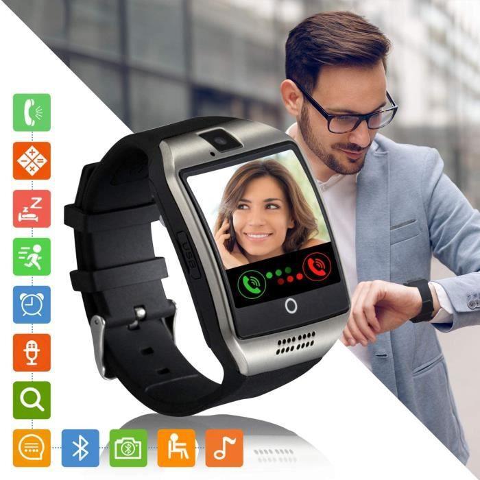 Montre Connectée Femmes Homme Enfant SN06 Smartwatch Supporte la Carte SIM Caméra Podometre Sport Bracelet Connecté Montre con[343]