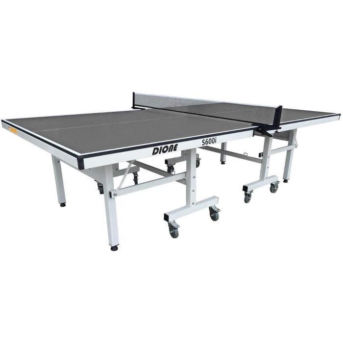 Dione School Sport 600 Table de ping-pong compacte pour l'int&eacuterieur Gris Table de tennis de table pliable et enroulable[19]