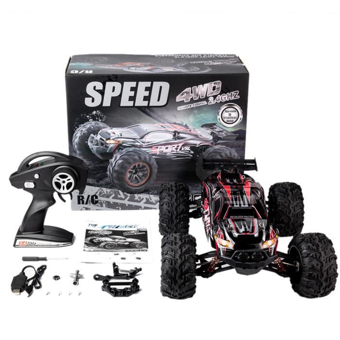 RC Car X-03 2.4G 1-10 4WD Brushless High Speed 60KM - H Big Foot Vehicle Models Truck Off-Road Vehicle Buggy RC Electronic rouge