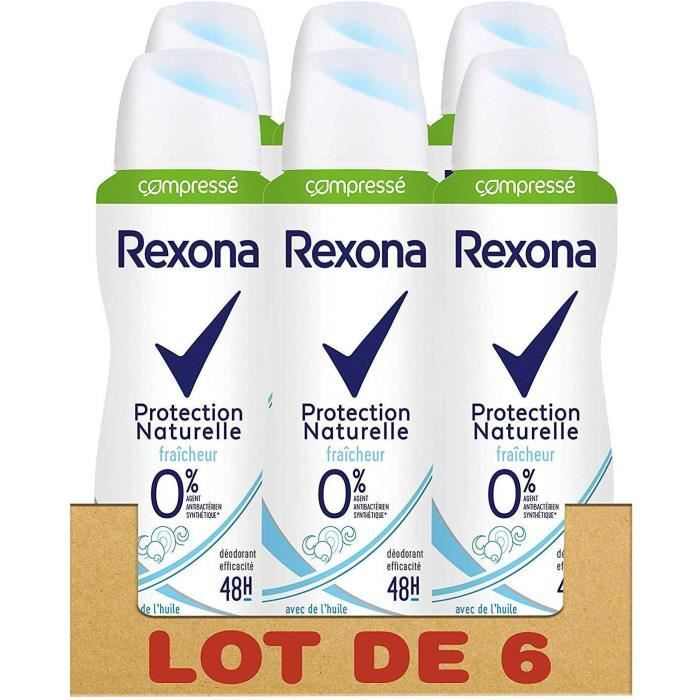 REXONA Lot de 6 Déodorants Femme Spray Compressé Fraîcheur 48h - 100ml