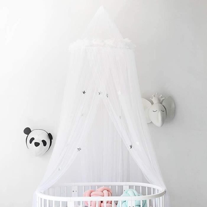 TENTE DE LIT teacuteristiques Ciel de Lit pour Bebe Flle et Garccedilon Mode Moustiquaire Tulle Deacutecorative pour Lit Beacute303