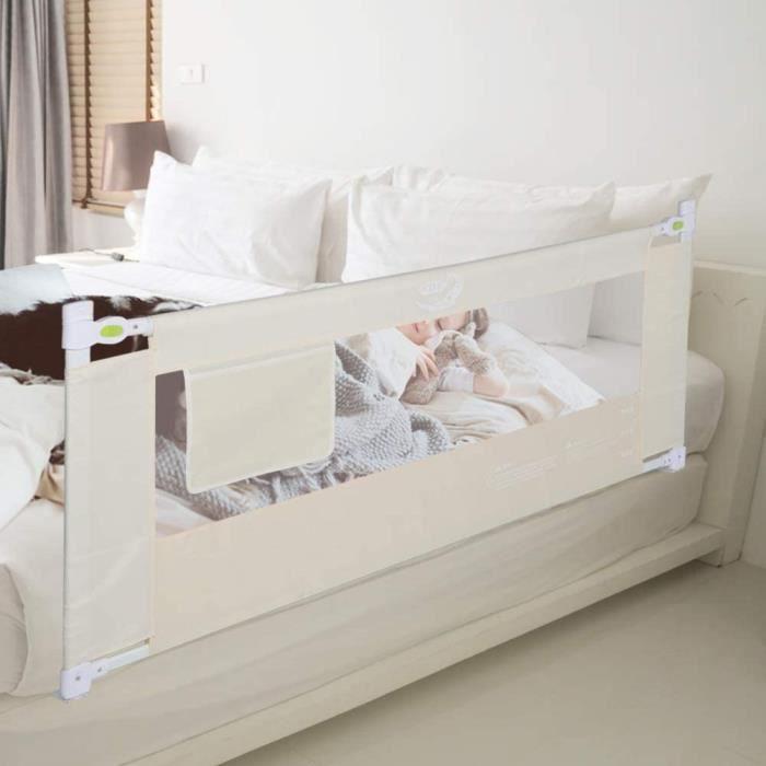 LIT BEBE egravere de lit pour Enfant 180 cm Barriere Lit Enfant Safety Pliable Protection AntiChute Barriegravere de Lit Porta231