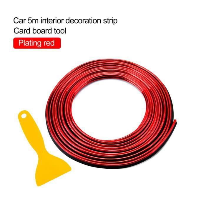 Plating red -LOEN – bande décorative d'intérieur de voiture, garniture de moulage, Chrome argent bleu rouge, bord de porte de tablea