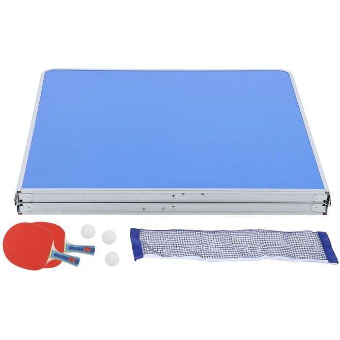 Akozon Table de tennis de table pliable Accessoire d'intérieur durable de ping-pong réglé avec la table pliable nette de tennis