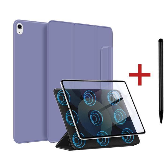 Coque iPad Air 4 2020 [ +Stylet ] Aimant Puissant Rassurant Magnétique Réveil/Sommeil Automatique Housse Case - lavande