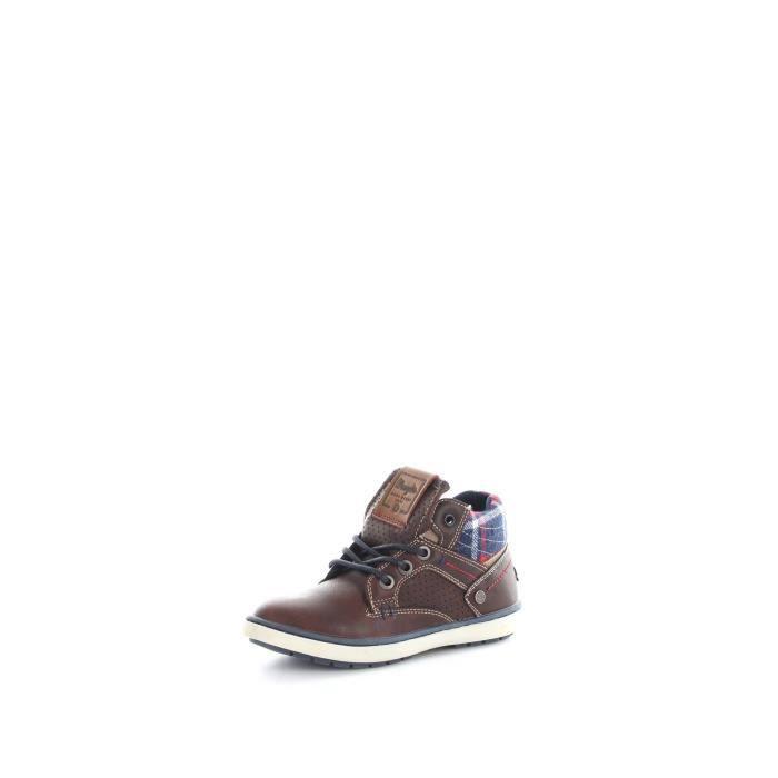 Wrangler Junior WJ16238 chaussures de tennis faible Enfant MARRON