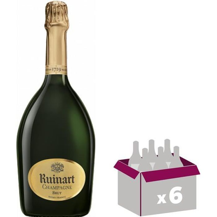 Lot de 6 Champagne Ruinart Brut 75 cl