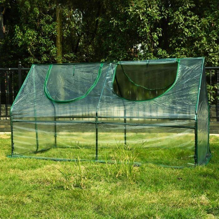Serre de Jardin en Plastique - Serre Jardin avec fermetures à Zip - Abri pour plante et culture ( Dimensions : 180 x 92 x 92 cm ) 10