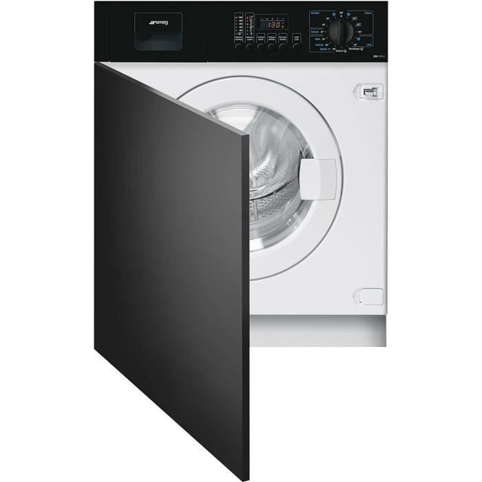 Smeg LBA10N-2 Intégré Charge avant 7kg 1000tr-min A++ Noir, Blanc machine à laver - Machines à laver (Intégré, Charge avant, Noir, B