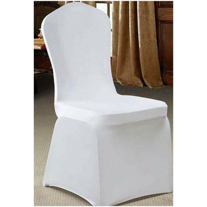 couvre chaise blanc extensible achat vente pack linge de table cdiscount. Black Bedroom Furniture Sets. Home Design Ideas