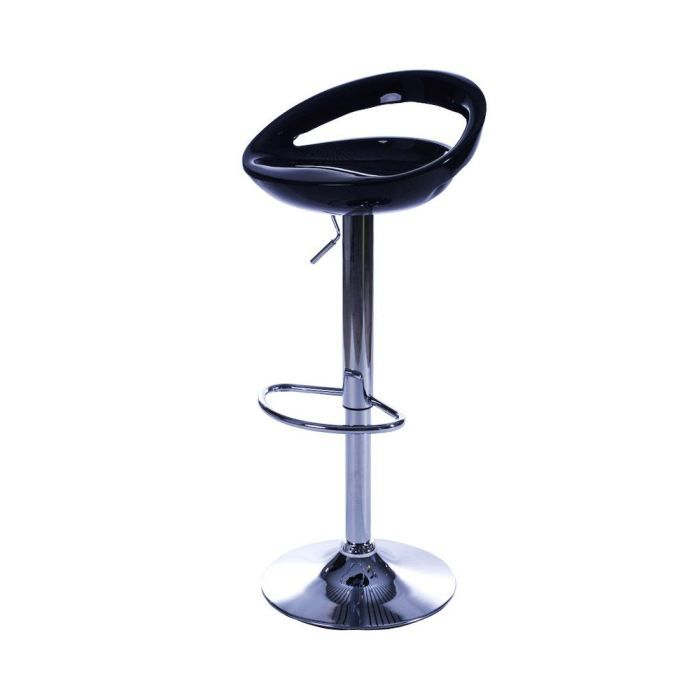 tabouret de bar design saturn noir achat vente tabouret de bar plastique. Black Bedroom Furniture Sets. Home Design Ideas