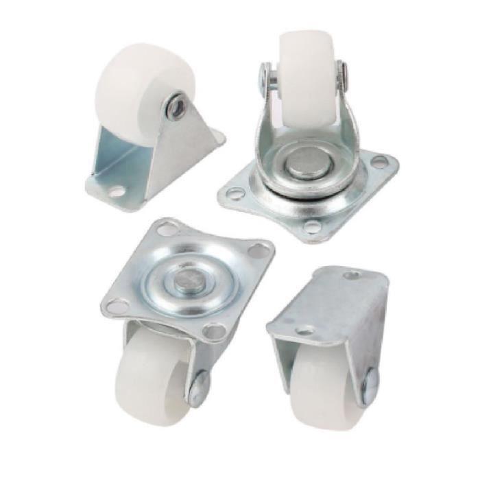 100/kg par lot appareils et mat/ériel/- charge max Bulldog Castors Lot de 4/roulettes pivotantes 40 mm en nylon/avec frein pour meubles