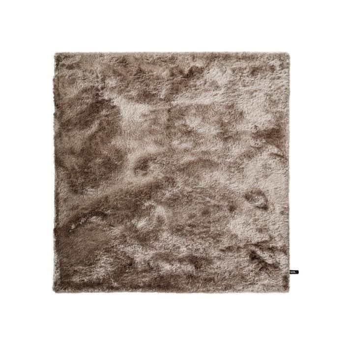 benuta tapis poils longs whisper marron clair 60x60 cm achat vente tapis cdiscount. Black Bedroom Furniture Sets. Home Design Ideas