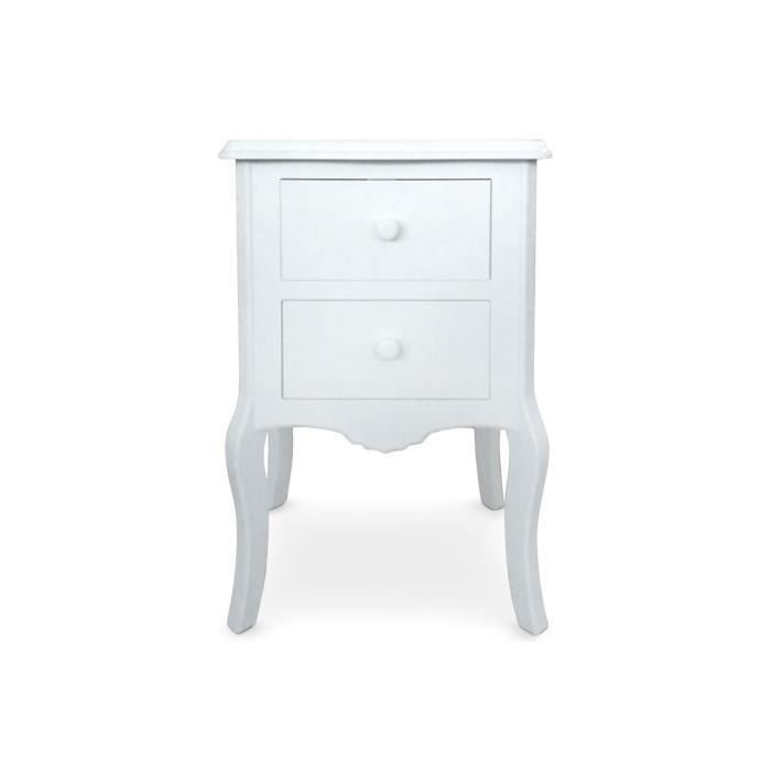 table de chevet 2 tiroirs blanc gorgeous achat vente. Black Bedroom Furniture Sets. Home Design Ideas