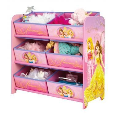 meuble de rangement disney princesses 6 paniers achat. Black Bedroom Furniture Sets. Home Design Ideas