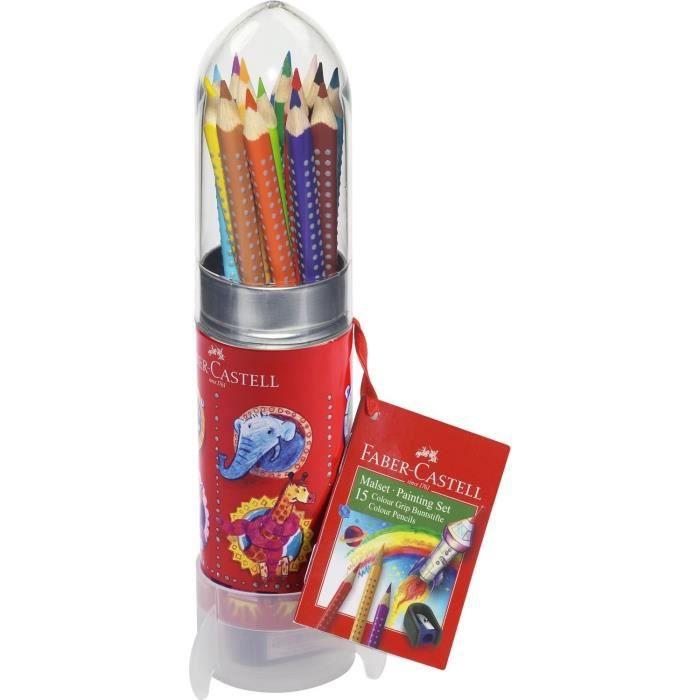 Faber Castell Set Crayons De Couleur Colour Grip Fusee Peindre Et