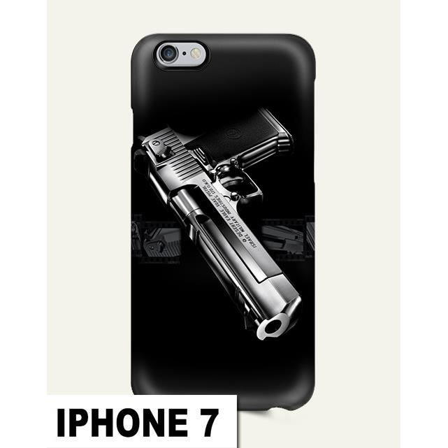 coque iphone 7 arme pistolet feu