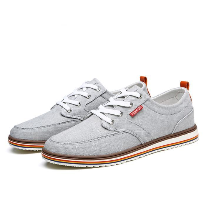 Chaussure Homme Meilleure Qualité Occasionnels Classique Mâle Appartements Chaussures Hommes Toile Respirant Confortable Taille 43 MQmY2wnYFY