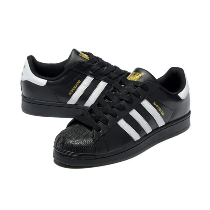 adidas superstar noir blanc or